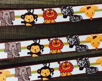 Monkey Ribbon, Elephant Ribbon, Lion Ribbon, Zebra Ribbon, Baby Animal Ribbon