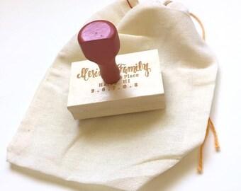 Custom Calligraphy address stamp