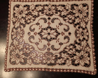 Hand Stitched Rectangular Doily