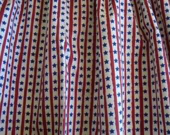 "Patriotic Americana Stars and Stripes Handmade Valance 41"" x 13"""