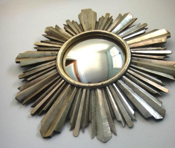 spiegel sonne silber franz sisch jahrgang 1950 von hexe auge. Black Bedroom Furniture Sets. Home Design Ideas