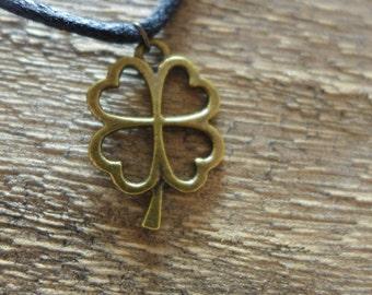 Four Leaf Clover Adjustable Charm Necklace
