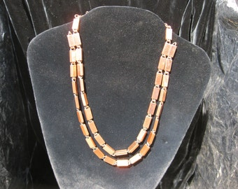 Copper Rectangular Links by Renoir, Copper Necklace Mid Century