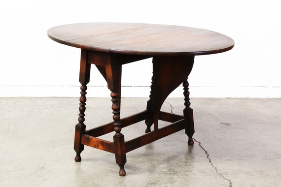 American Antique Drop Leaf Dining Table By VintageSupplyLA On Etsy