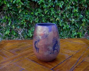 Dancing Kokapell's Pottery Vase