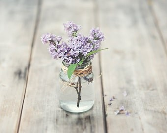 Digital Photography Download - Vintage Home Decoration - Lilac in a Jar