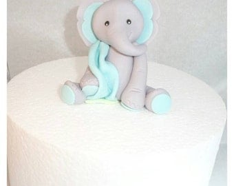 Elephant with Blanket Fondant Topper