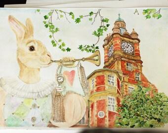 White Rabbit Original Art Work
