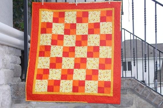 Yellow Ducks Baby/Toddler Handmade Quilt
