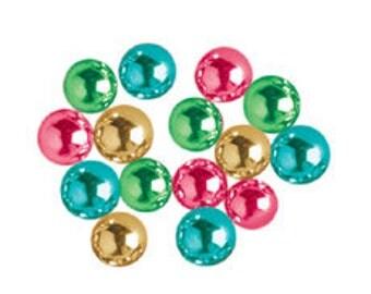 MULTI-COLOR 4mm Sugar Pearls Edible 4 OZ  Cake/Cupcake/Cookie Decorations