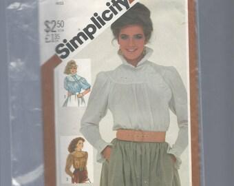 Simplicity 5575 Misses Asymmetrical Blouse Size 8