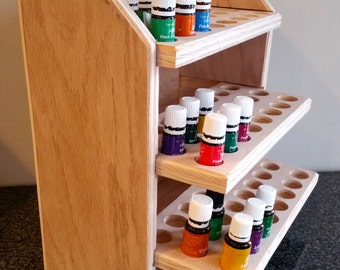 Essential oil storage shelf (holds 72 bottles) unfinished ***