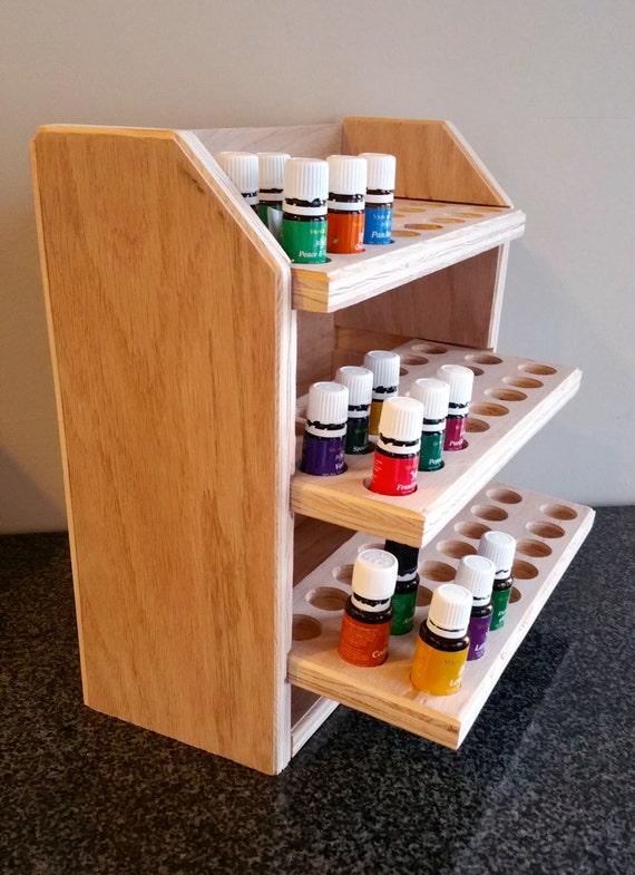 Tag re de rangement huile essentielle d tient 72 bouteilles for Huile de lin meuble