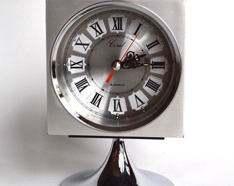 70s retro vintage space age Chromatic pedestal alarm clock