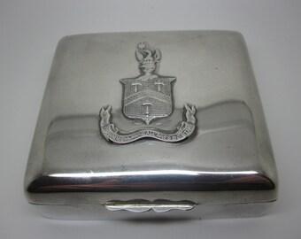 Antique Silver trinket box, c.1900 Alstons' & Hallam Sterling silver box London HM