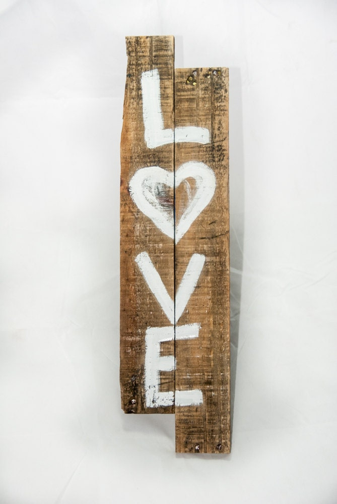 Rustic Chic Wall Decor Pinterest : Rustic love sign shabby chic decor wall by