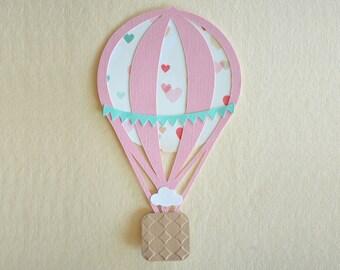 Hot Air Balloon Baby Shower Invite - Hot Air Balloon Birthday Invite for Girls - Hootsie
