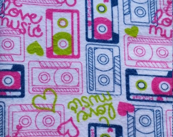Baby Play Mat or Snuggle Blanket - Flannel - Music Lovers