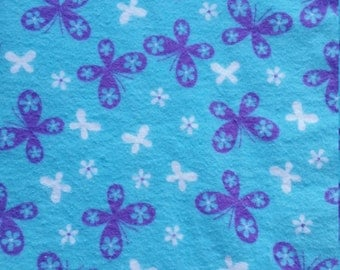 Baby Play Mat or Snuggle Blanket - Flannel - Butterflies