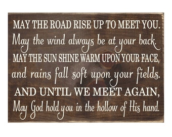 Irish Blessing Rustic Wood Sign / Wooden Plaque  (#1670)