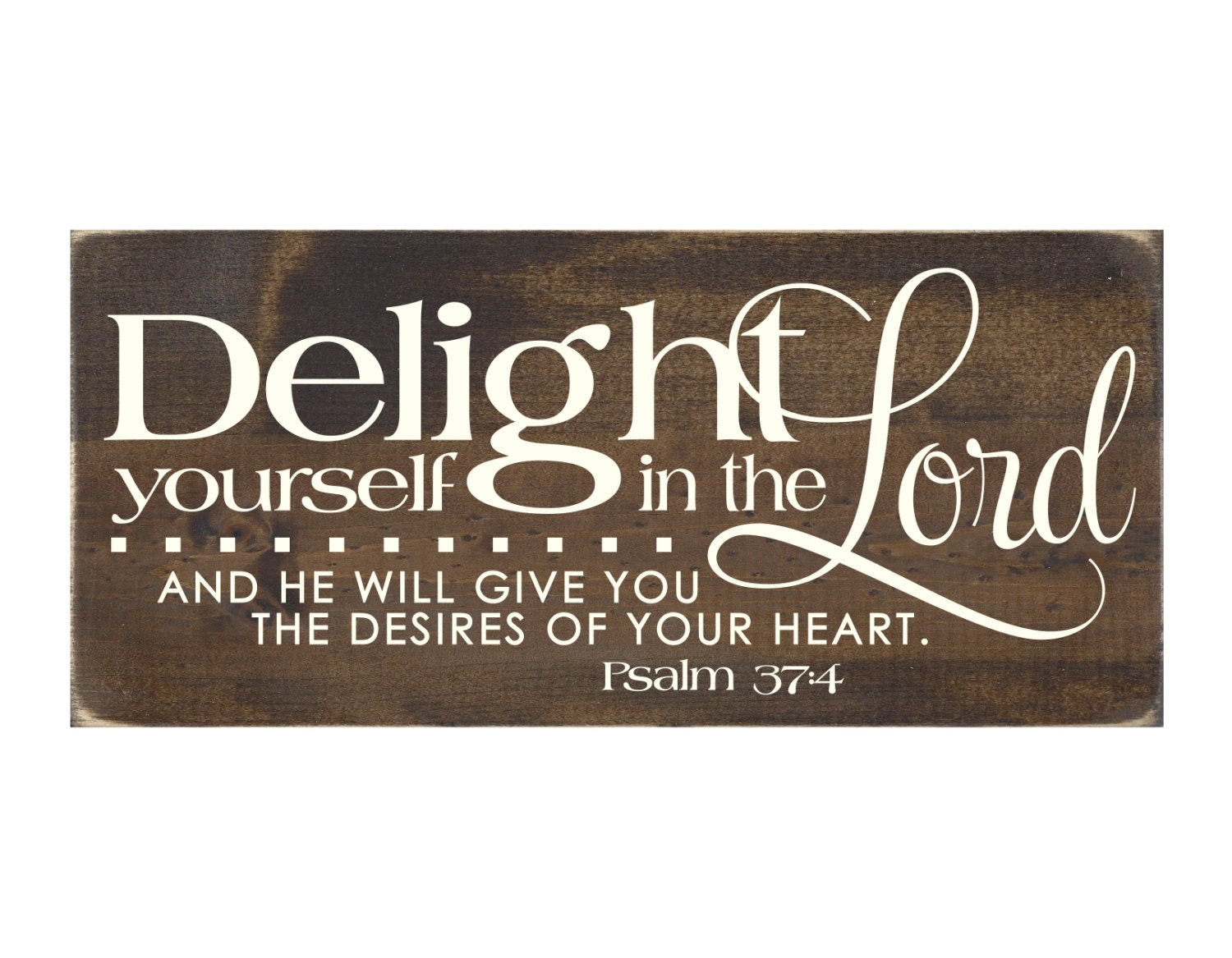 Rustic Wood Christian Sign Wall Hanging Home Decor Delight