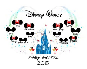 Disney World 'Family Vacation 2015/2016' PERSONALISED T-Shirt Transfer