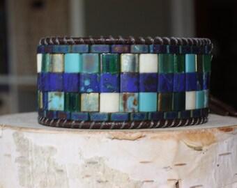 Women's leather cuff bracelet