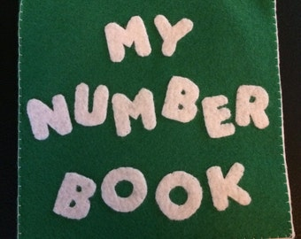 Hand stitched felt activity book
