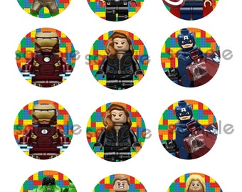 Lego Avengers cupcake toppers