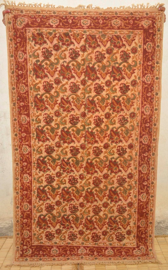 red flowers floor rugs area rug 3x5 wood by