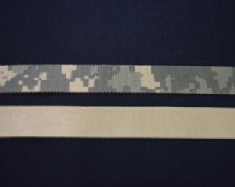 "5 YARDS ACU Digital Military Camouflage Nylon Webbing 1"" Wide Military - Spec 17337 C"
