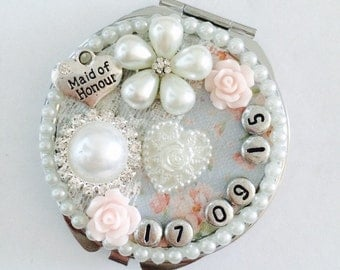 Compact Mirror Bridesmaid Gift