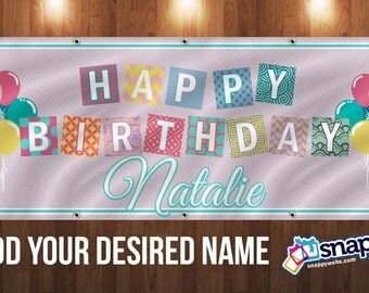 Personalized Birthday Vinyl Banner