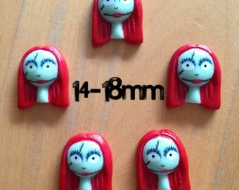 14mm-16mm-18mm rag doll Sally plugs for stretched ears (Nightmare Before Christmas)