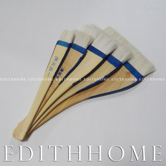 1 Quot 5 Quot Long Handle Chinese Goat Hair Flat Brush Set For
