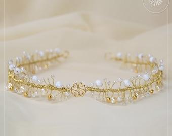 Headpiece tiara bridal hair accessories 'BohoChic'