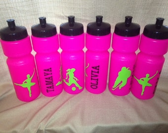 SALE Personalized Sports Water Bottle 28oz Party Favors Soccer Ballet