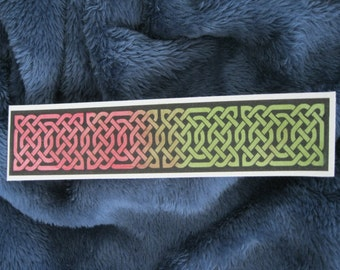 Hand painted Celtic Knot Watercolor Bookmark