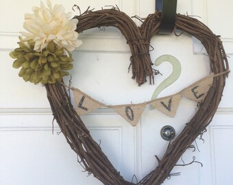 Heart love wreath