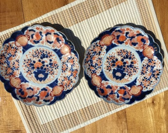 Set of 19th Century Imari Scalloped Dishes
