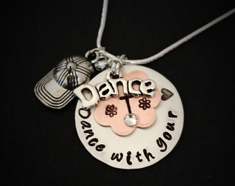Personalized Hip Hop Necklace, Personalized Dance Necklace, Ballet, Jazz, Dance Team, Dancers Gift, Hip Hop Dance Necklace, nationals gift