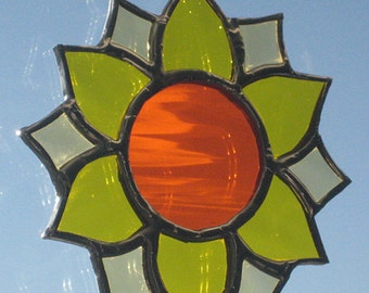Glass Sunflower Sun Catcher