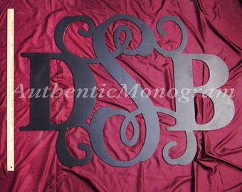 Wooden Monogram Wall Hanging, Classic Combo Monogram, Painted Monogram, Home Decor, Wall Art, Wedding Decor, Two Fonts