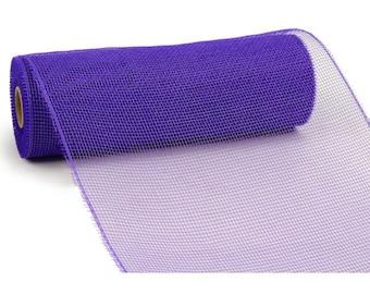 "10"" Purple Deco Poly Mesh, Purple Deco Mesh, Solid Purple Deco Mesh (10 YARDS) -RE130223"