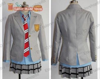 Your Lie in April Kaori Miyazono cosplay costume Gray