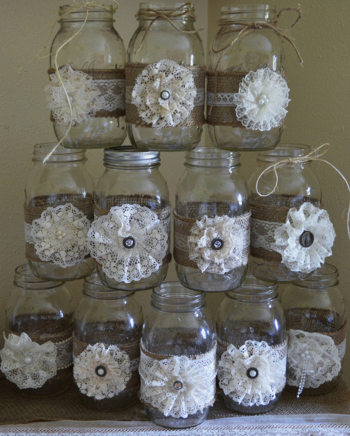 12 mason jar wedding decorations vintage wedding decorations for Vintage wedding decorations