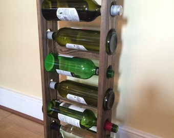 Compact wine rack wooden