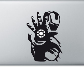 Sticker Macbook - Iron Man - Decal for MacBook Air Pro Retina - 11 12 13 15 or 17 inches - Skin for macbook easy to stick
