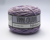 Set of 2 x 50g double knit balls - Vinnis Colours, 100% cotton yarn, hand dyed - Lilac