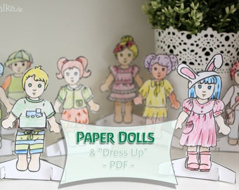 "Paper Dolls - ""Dress me up"" Dolls - DIY Cutout by Kukalka"